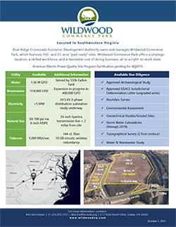 Wildwood Commerce Park Site Flyer